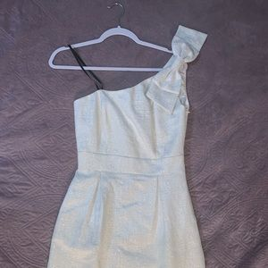 Laundry one shoulder dress with bow
